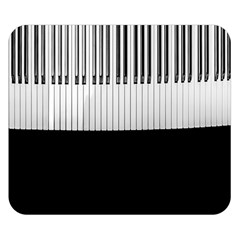 Piano Keys On The Black Background Double Sided Flano Blanket (small)