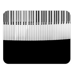 Piano Keys On The Black Background Double Sided Flano Blanket (Large)