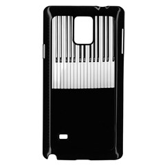 Piano Keys On The Black Background Samsung Galaxy Note 4 Case (Black)