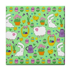Cute Easter pattern Tile Coasters