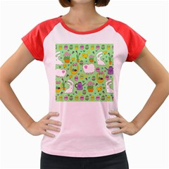 Cute Easter pattern Women s Cap Sleeve T-Shirt