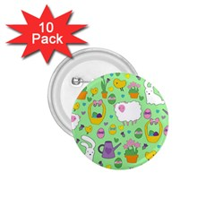 Cute Easter pattern 1.75  Buttons (10 pack)