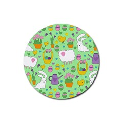 Cute Easter pattern Rubber Round Coaster (4 pack)