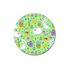 Cute Easter pattern Magnet 3  (Round)