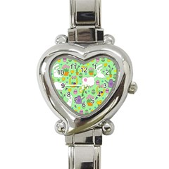 Cute Easter pattern Heart Italian Charm Watch