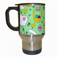 Cute Easter pattern Travel Mugs (White)