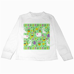 Cute Easter pattern Kids Long Sleeve T-Shirts