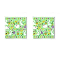 Cute Easter pattern Cufflinks (Square)