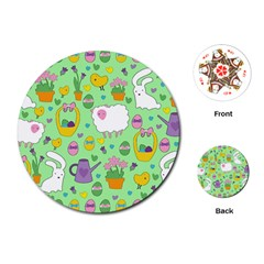Cute Easter pattern Playing Cards (Round)