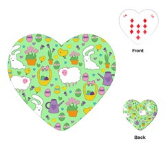 Cute Easter pattern Playing Cards (Heart)