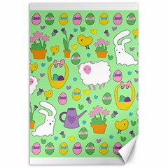 Cute Easter pattern Canvas 24  x 36