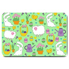 Cute Easter pattern Large Doormat