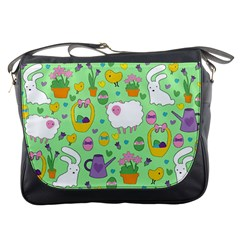 Cute Easter pattern Messenger Bags