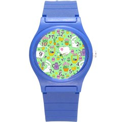 Cute Easter pattern Round Plastic Sport Watch (S)