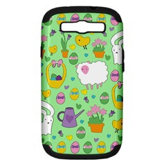 Cute Easter pattern Samsung Galaxy S III Hardshell Case (PC+Silicone)