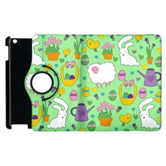 Cute Easter pattern Apple iPad 2 Flip 360 Case