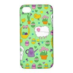 Cute Easter pattern Apple iPhone 4/4S Hardshell Case with Stand