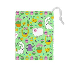 Cute Easter pattern Drawstring Pouches (Large)