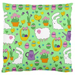Cute Easter pattern Standard Flano Cushion Case (Two Sides)