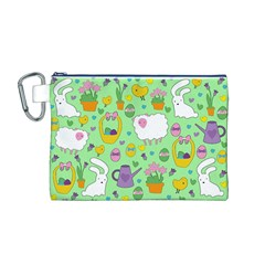Cute Easter pattern Canvas Cosmetic Bag (M)