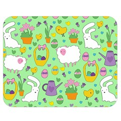 Cute Easter pattern Double Sided Flano Blanket (Medium)