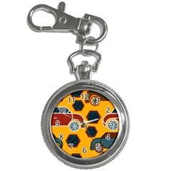 Husbands Cars Autos Pattern On A Yellow Background Key Chain Watches