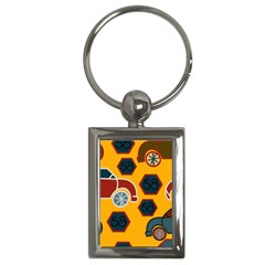 Husbands Cars Autos Pattern On A Yellow Background Key Chains (Rectangle)