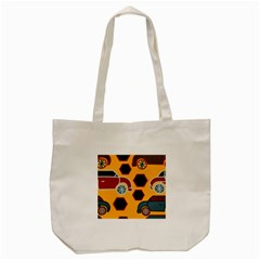 Husbands Cars Autos Pattern On A Yellow Background Tote Bag (cream)