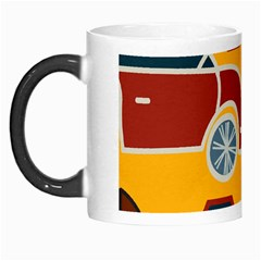 Husbands Cars Autos Pattern On A Yellow Background Morph Mugs