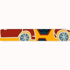 Husbands Cars Autos Pattern On A Yellow Background Small Bar Mats