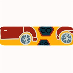 Husbands Cars Autos Pattern On A Yellow Background Large Bar Mats