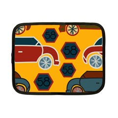 Husbands Cars Autos Pattern On A Yellow Background Netbook Case (small)