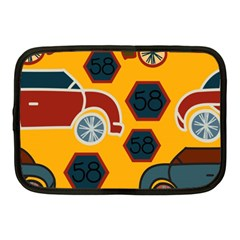 Husbands Cars Autos Pattern On A Yellow Background Netbook Case (Medium)