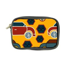 Husbands Cars Autos Pattern On A Yellow Background Coin Purse