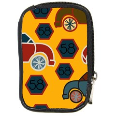 Husbands Cars Autos Pattern On A Yellow Background Compact Camera Cases
