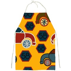 Husbands Cars Autos Pattern On A Yellow Background Full Print Aprons