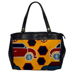 Husbands Cars Autos Pattern On A Yellow Background Office Handbags