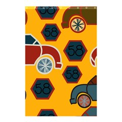 Husbands Cars Autos Pattern On A Yellow Background Shower Curtain 48  x 72  (Small)