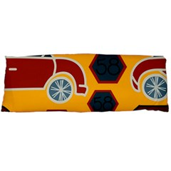 Husbands Cars Autos Pattern On A Yellow Background Body Pillow Case Dakimakura (two Sides)