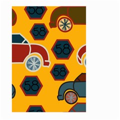 Husbands Cars Autos Pattern On A Yellow Background Large Garden Flag (two Sides)