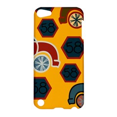 Husbands Cars Autos Pattern On A Yellow Background Apple iPod Touch 5 Hardshell Case