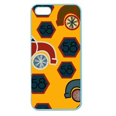 Husbands Cars Autos Pattern On A Yellow Background Apple Seamless Iphone 5 Case (color)