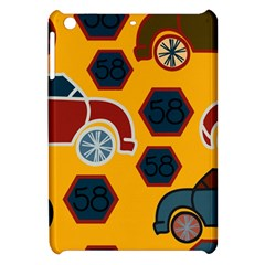 Husbands Cars Autos Pattern On A Yellow Background Apple iPad Mini Hardshell Case