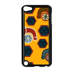Husbands Cars Autos Pattern On A Yellow Background Apple iPod Touch 5 Case (Black)