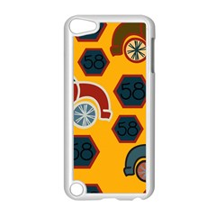 Husbands Cars Autos Pattern On A Yellow Background Apple Ipod Touch 5 Case (white)