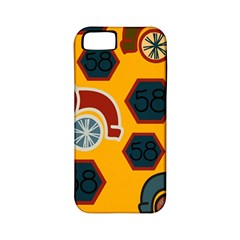 Husbands Cars Autos Pattern On A Yellow Background Apple iPhone 5 Classic Hardshell Case (PC+Silicone)