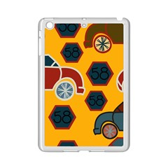 Husbands Cars Autos Pattern On A Yellow Background Ipad Mini 2 Enamel Coated Cases