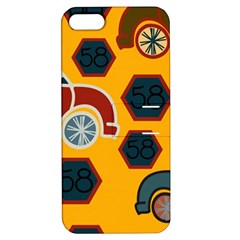 Husbands Cars Autos Pattern On A Yellow Background Apple iPhone 5 Hardshell Case with Stand