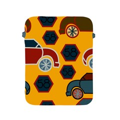 Husbands Cars Autos Pattern On A Yellow Background Apple iPad 2/3/4 Protective Soft Cases