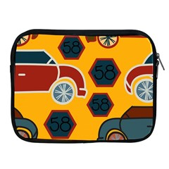 Husbands Cars Autos Pattern On A Yellow Background Apple iPad 2/3/4 Zipper Cases